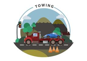 Free Towing Vector Illustration