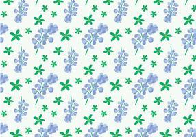 Bluebonnet Blumenmuster vektor