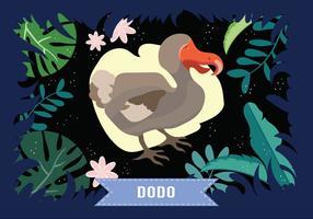 Dodo Vogel Vektor-Illustration vektor