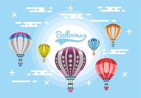 Heißluftballon-vektorentwurf