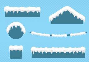 Snö på taket vektor