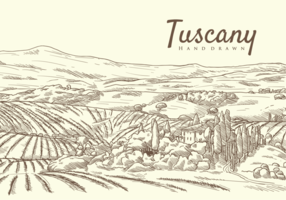 Freie Hand gezeichnete Toskana-Vektoren vektor