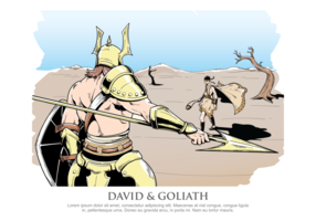 David und Goliath Vektor-Illustration