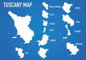 Toscana Karta Vector