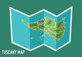 Toskana Karte Vektor