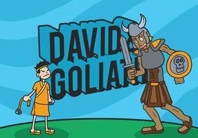 David och goliat vektor illustration