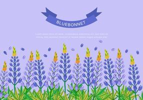 Bluebonnet för bakgrundsdesign vektor