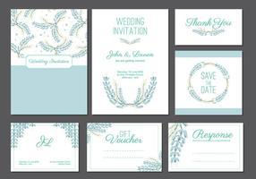 Bluebonnet Hochzeitskartenvorlage vektor