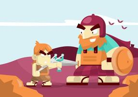 David und Goliath Illustration vektor