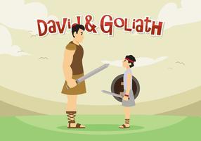 David und Goliath Vektor