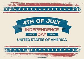 Grunge Vierte Juli Illustration