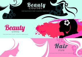 Skönhet Flyer Banner Vektorer