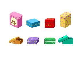 Sweet Tin Box Gratis Vector
