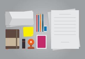 Cachet und Briefpapier Illustration. vektor