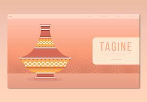 Tajine marokkanischen traditionellen Lebensmittel Illustration. Web-Vorlage.