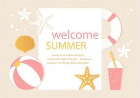 Free Vector Sommer Zeit Illustration