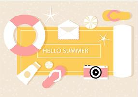Gratis Vector Sommar Illustration