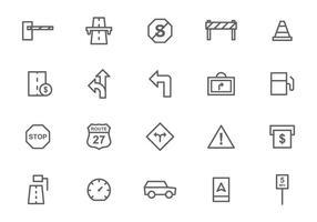 Freie Toll- und Verkehrszeichen-Vektoren