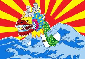 Kinesisk Dragon Boat Festival Vector