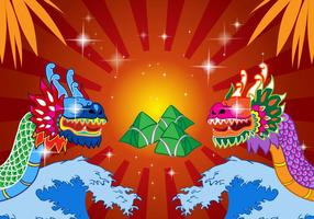 Kinesisk Dragon Boat Festival vektor