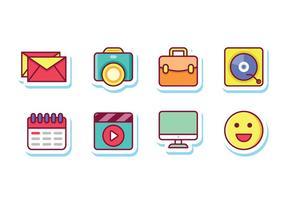 Social Media Aufkleber Icons vektor