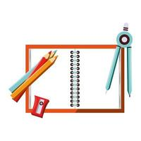 tillbaka till skolan och utbildning tecknad komposition