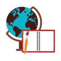 zurück zur Schule und Bildung Cartoon-Komposition