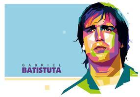 Gabriel Batistuta Vektor WPAP
