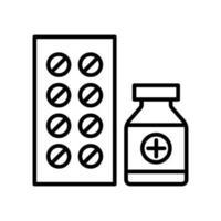 medicin tabletter ikon vektor