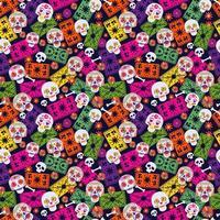 nahtloses Muster mit mexikanischen Elementen