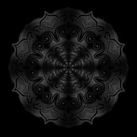 mörk mandala rund blommig prydnad