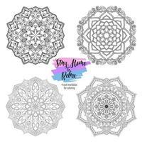 Mandala runde Blumenornamente