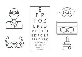 Eye Doctor Umriss Vektor