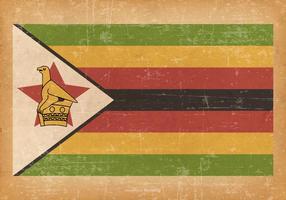 Grunge flagga av Zimbabwe