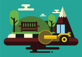 Arbeiter fahren Steamroller auf neue Straße