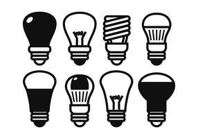 LED-lampor vektor uppsättning