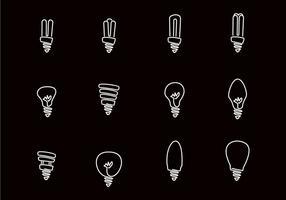 Handgezogene Glühbirne vektor
