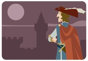 Musketier in der Burg Vektor