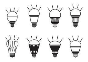 LED-Licht-Icon-Set vektor