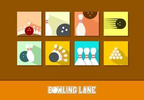 Flat Icon Bowling Kostenlose Vektoren