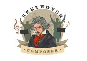 Beethoven Vektor-Illustration vektor