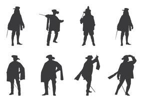 Königliche Musketiere Silhouetten vektor