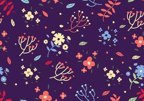 Free Floral Ditsy Druck Vektor Hintergrund