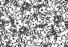 Vektor Graffiti-Tags Nahtlose Muster