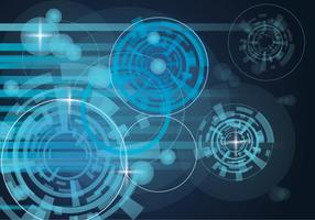 Blaue Matrix Hintergrund Vektor