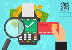 Kartenleser Zahlung vektor