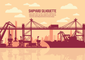 Shipyard Vector Illustration