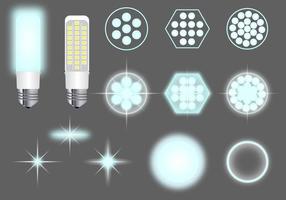 LED leuchtet Vector Pack