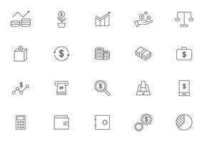 Marknads- och finansiella fördelar vektorer
