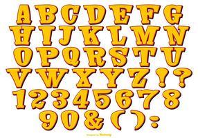 Nette Comic-Stil-Alphabet-Sammlung vektor